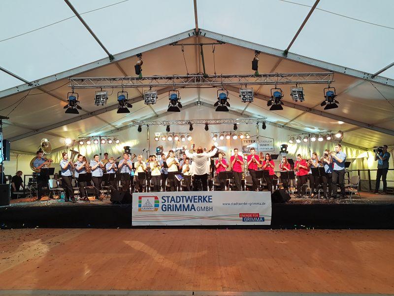 Eröffnung Musikantentreffen JBO Grimma